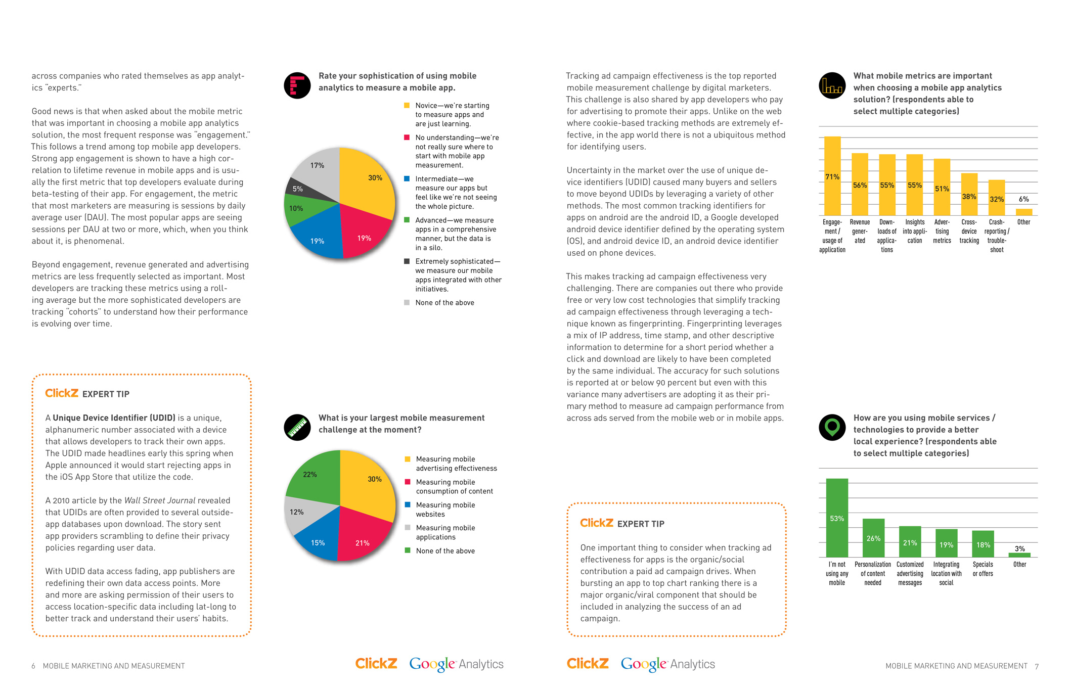 Report by ClickZ and Google Analytics on mobile marketing.