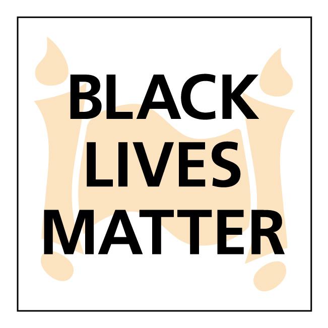 Black Lives Matter (BLM) sign for Bethesda Jewish Congregation, by Dawn Cavalieri, graphic designer.