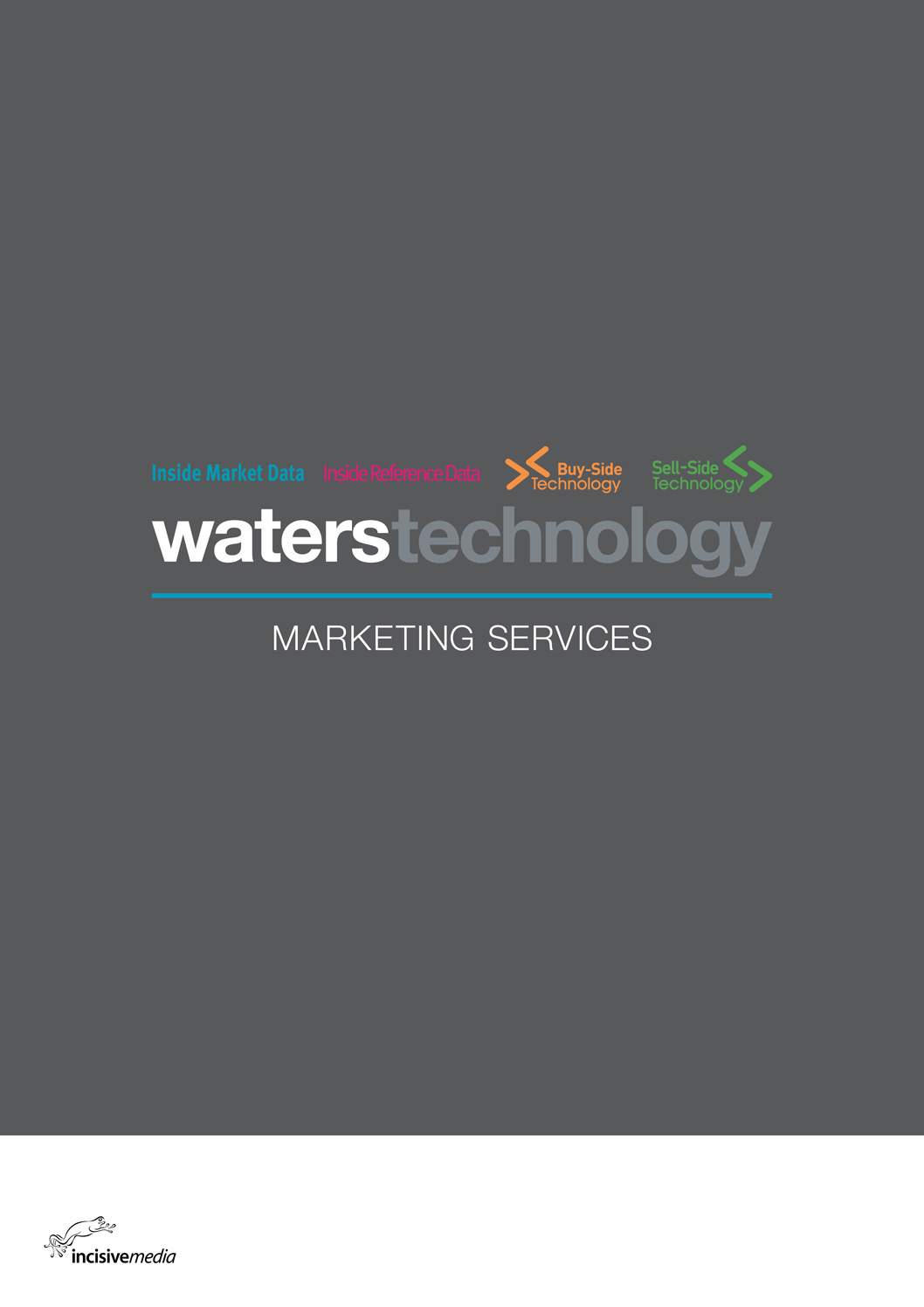 Brochure for Waters Technology, a series of magazines published by Incisive Media.