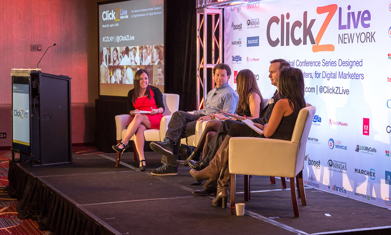Stage at ClickZ conference.