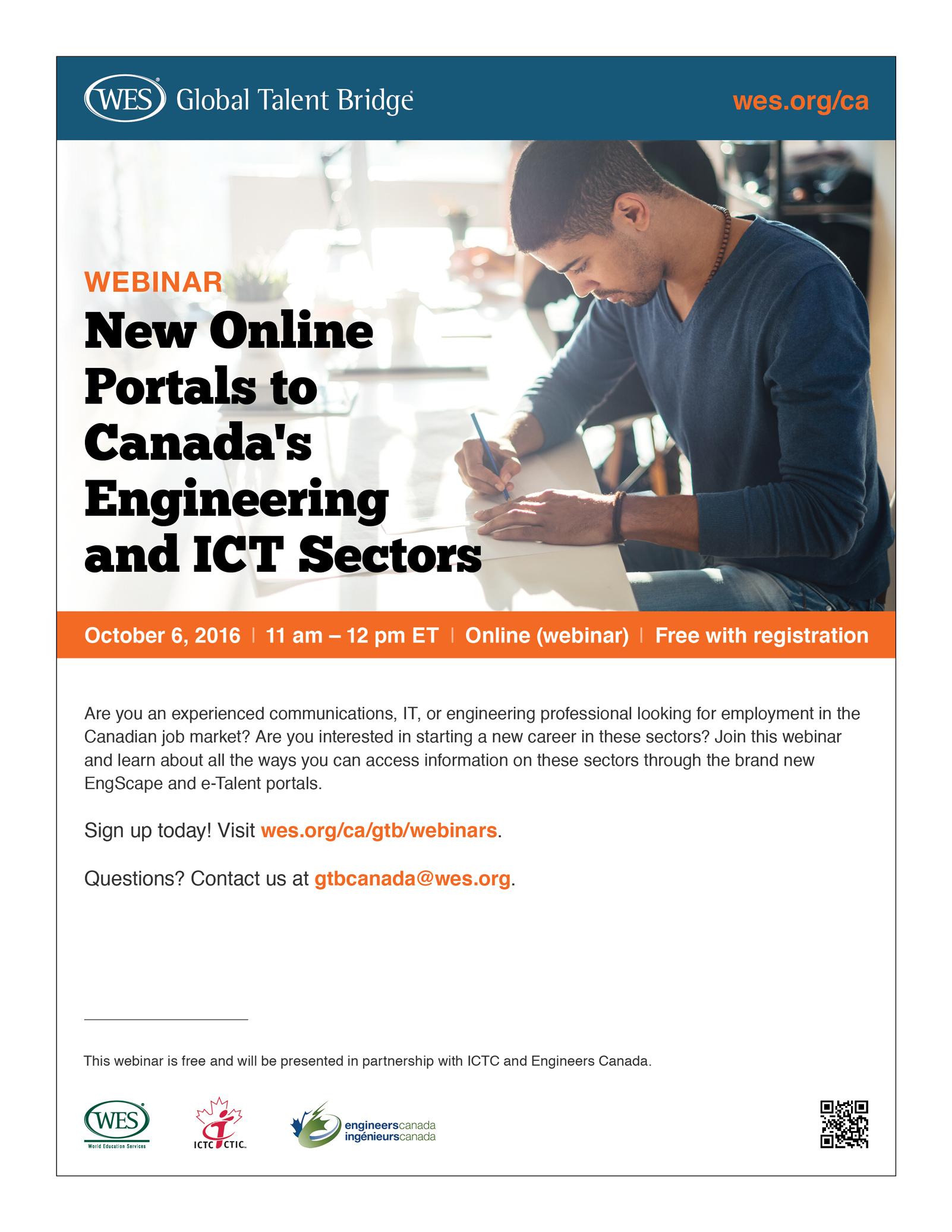 Flyer for webinar on career development.